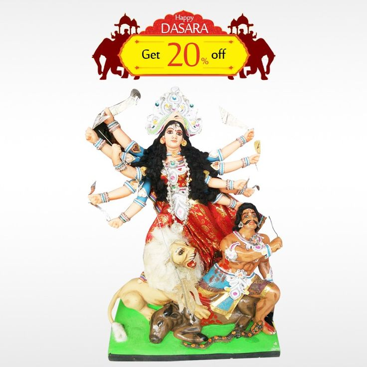 Buy authentic #DurgaMaatha  and get 20% off on all #DasaraDolls . Make your #DasaraSet  more unique!  #BringHomeFestival