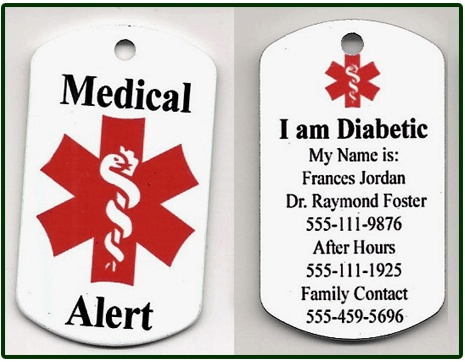 12 best diabetes management images on pinterest diabetes medical alert dog tag 1500 available in a bead chain necklace or a keychain with life fandeluxe Gallery