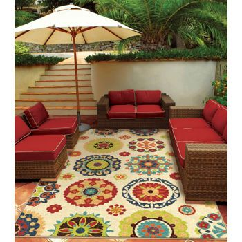 Costco Orian Rugs Outdoor Area Rug Collection Hubbard White
