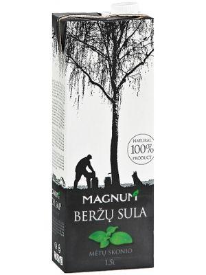 MAGNUM 1,5l Sok z brzozy o smaku mięty litewski  • orzeźwiający smak • odtruwa organizm • właściwości lecznicze • 100% naturalności