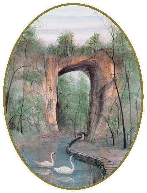 Natural Bridge Ornament on P Buckley Moss | Canada Goose Gallery | 3-5/ - Natural Bridge Ornament In 2018 P Buckley Moss Pinterest