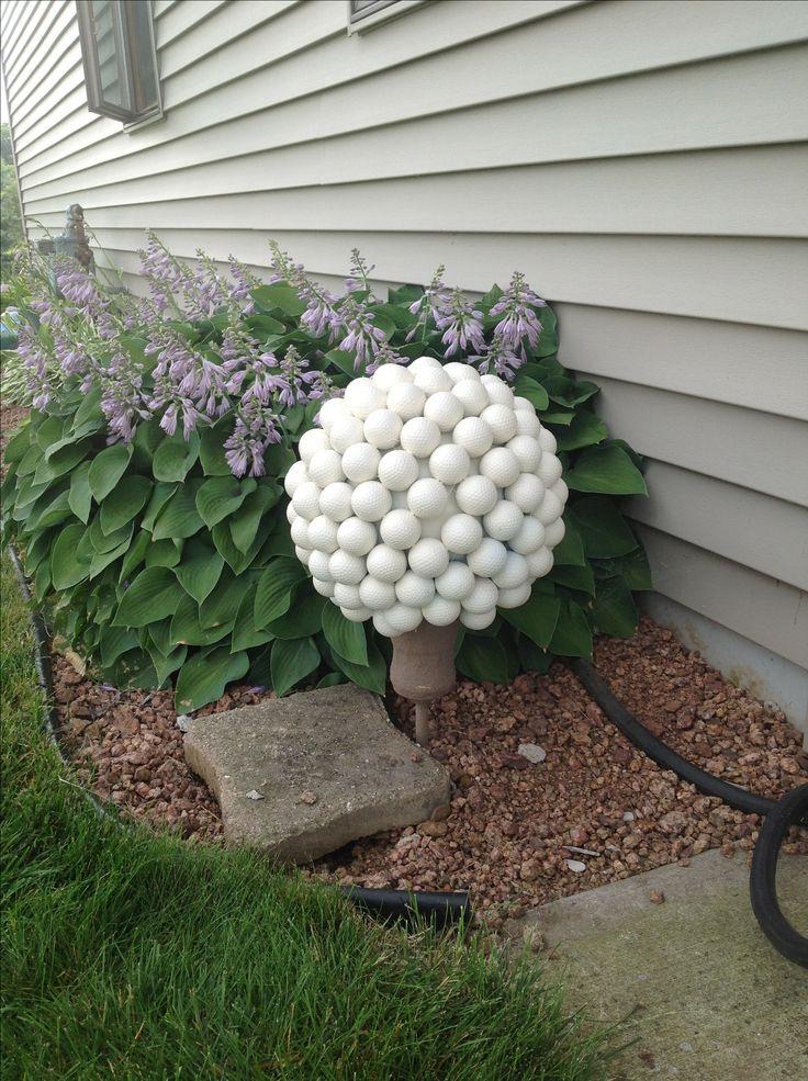 Golf ball gazing ball