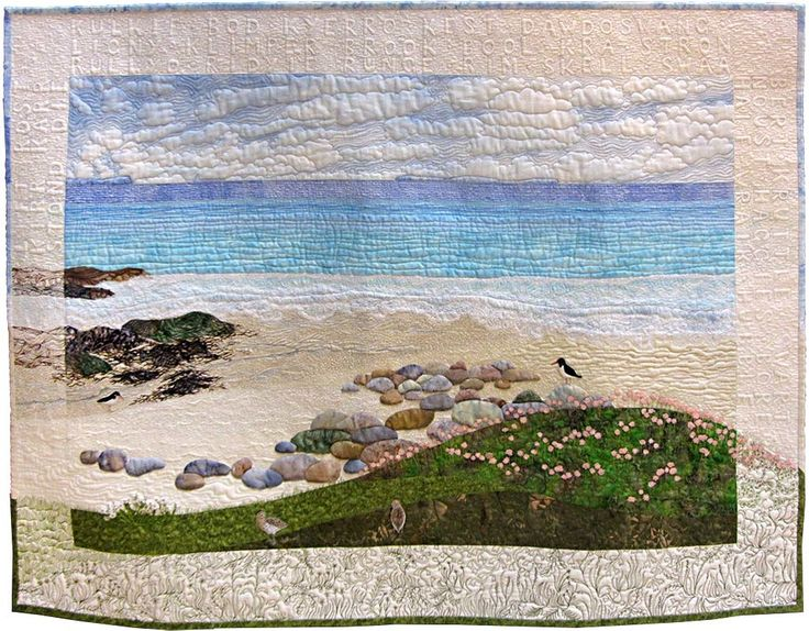 Seapinks at Sandwick by Sheena Norquay.  Quilt Fest 2015. Contemporary Quilt (UK).