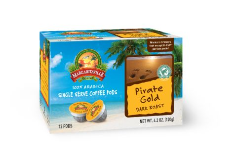 Margaritaville Coffee Pirate Gold. Dark Roast. If you don't know which way to go but need the java to be hot and bold, this treasure of dark roasted Central and South American coffees will ensure you land in the right spot.