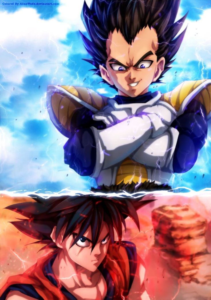 Goku Vs Vegeta By One-Punch Man Author by AllanWade