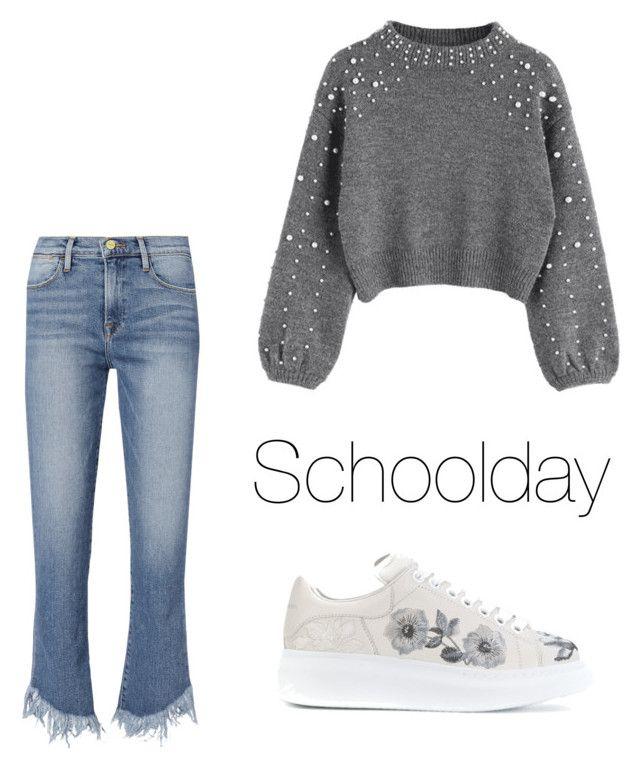 """""""Just a schoolday."""" by djamilladjamilla on Polyvore featuring mode, Frame en Alexander McQueen"""
