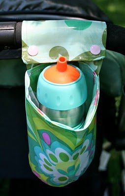 Como hacer un porta biberones para carrito de bebes