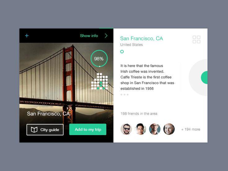 Dribbble - San Francisco City Card by Julia Khusainova