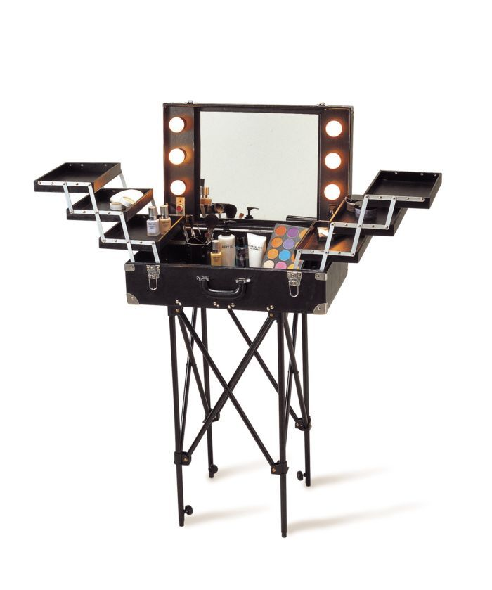 Makeup case with lighted mirror - awesome!!!