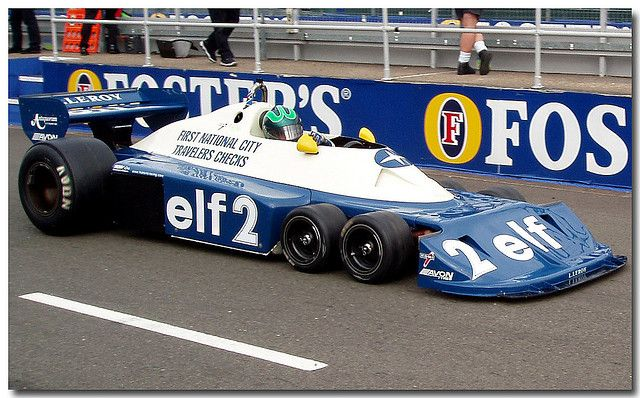 Ex Ronnie Peterson Tyrrell P34 six wheeler F1 Thoroughbred Grand Prix Championship F1 Silverstone 2005 | Flickr - Photo Sharing!