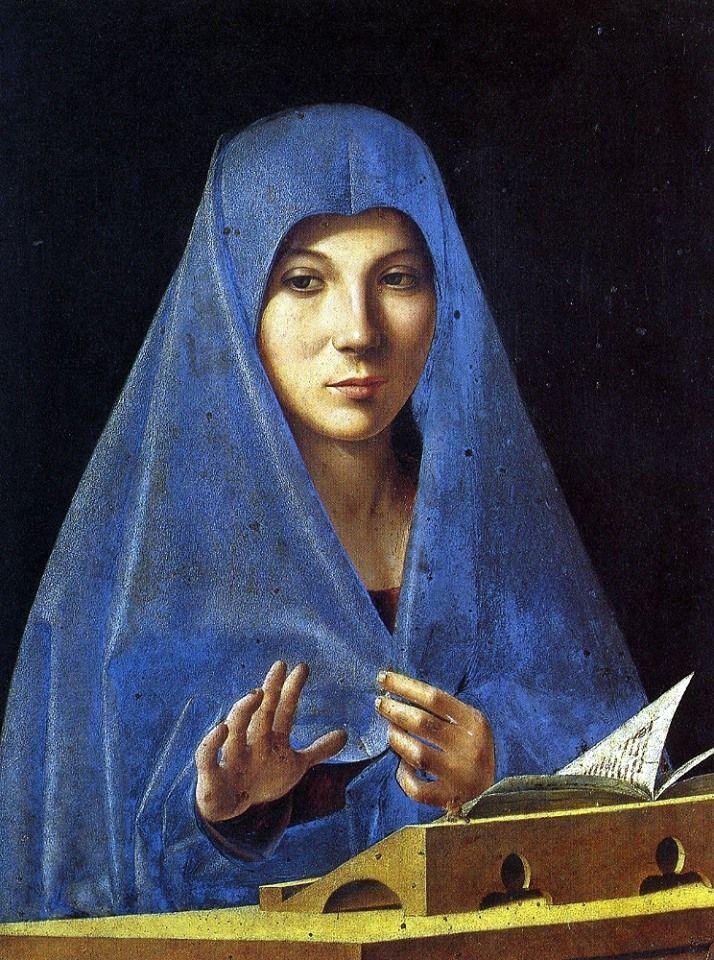 """ANTONELLO DA MESSINA """"Annunciata di Palermo"""" (1476) Palermo, Palazzo Abatellis"""