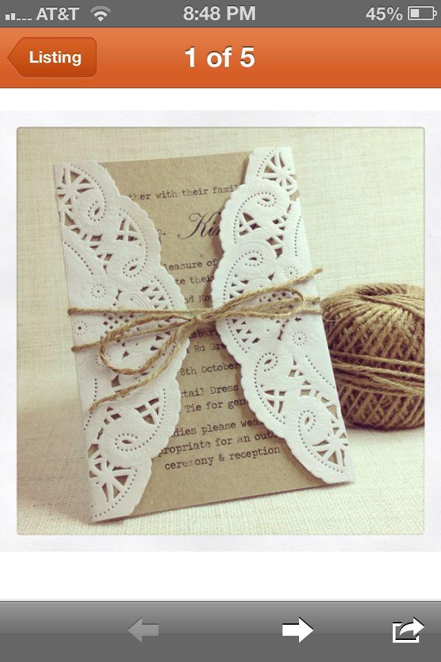 Wedding invite idea (: