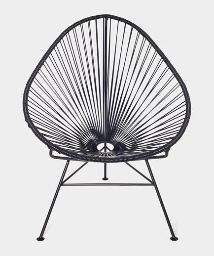 My mom had something like this. SO comfortable. || 20 Marvelously Modern Mexican Designs:: A classic shape, this Acapulco Chair ($195) is perfect for indoor and outdoor use.