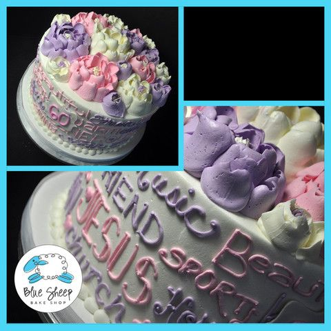 Buttercream Floral Expressions Birthday Cake