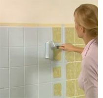 DIY, bathroom update ~ weekend bathroom makeover. Paint over those ghastly tiles. Proper prep and paint choices will give you lasting results that look good