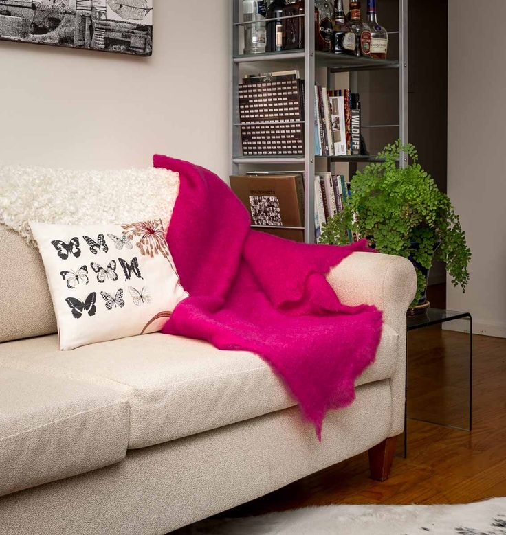 Hot pink baby!!! This hot pink mohair throw blanket is a divine colour. From Gorgeous Creatures.