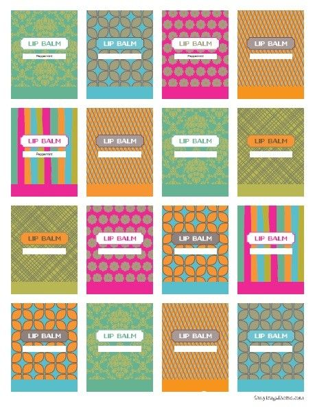 Printable Lip Balm Labels