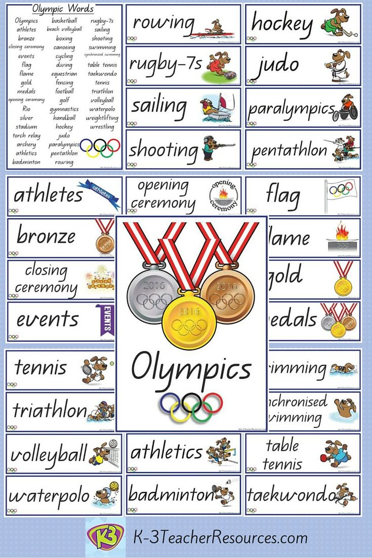 READY FOR RIO ?   47 Olympic Games Vocabulary Words