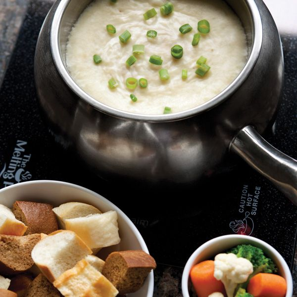 Wisconsin Trio Cheese Fondue and dipping options. Enter The Melting Pots new menu Pinterest contest for chance to win free fondue for a year or one of four 100-dollar Melting Pot gift cards!