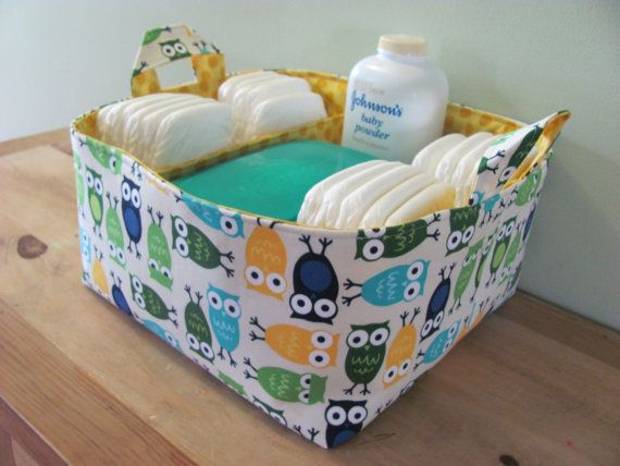 NEW Fabric Diaper Caddy  Fabric organizer by hipbabyboutique, $48.00