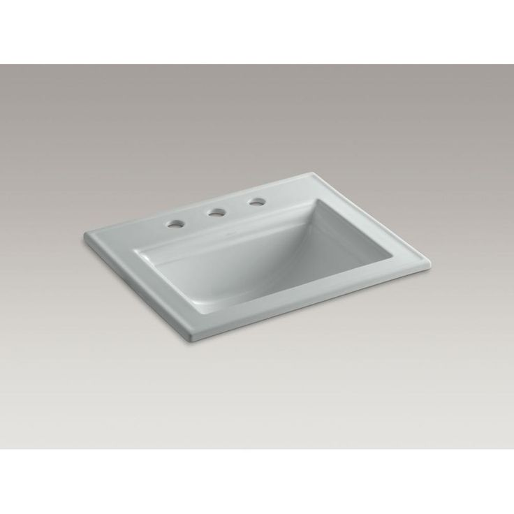 Kohler - 551235 sales at Pipeline Supply Inc. Drop In Bathroom Sinks in a decorative Ice Grey finish