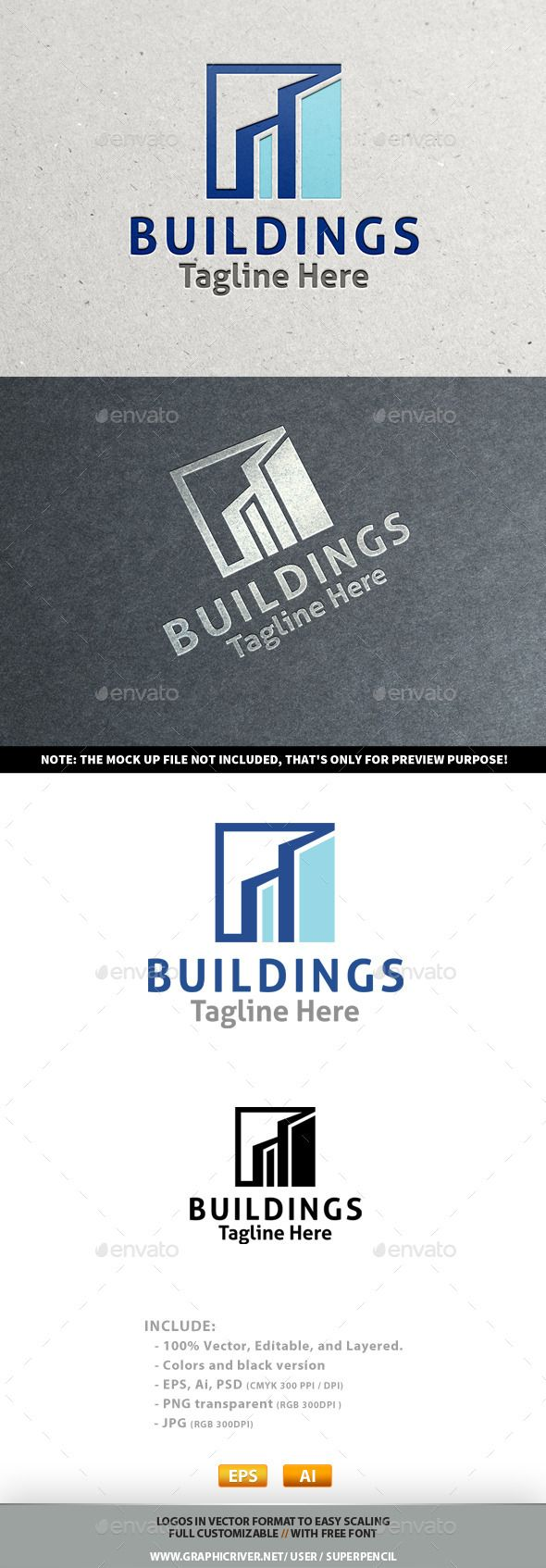 Buildings Logo Design Template Vector #logotype Download it here: http://graphicriver.net/item/buildings-logo/10218194?s_rank=716?ref=nexion