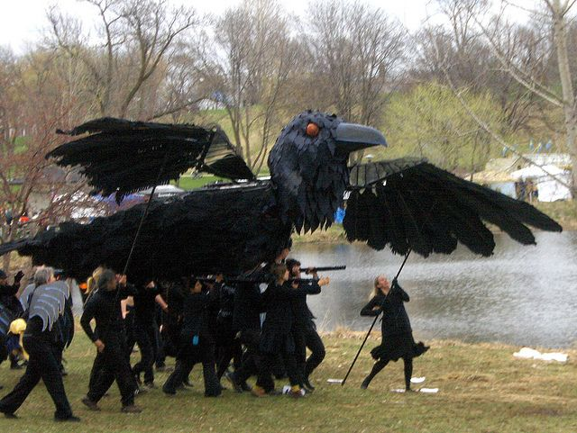 Large Crow Puppet at the Heart of the Beast Theater's annual Mayday Parade 2011  Photography by zuluadams  , via Flickr
