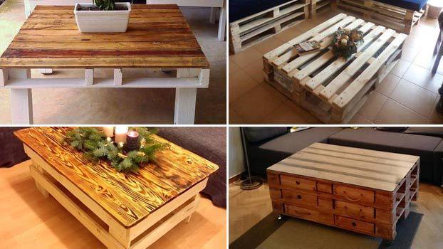 4 mobili economici in pallet di legno