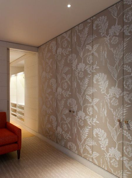 Best Dress Up Closet Doors With Fabric Wallpaper Or Panelling 400 x 300