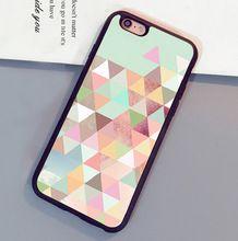 Geometrische hipster mintgroen gedrukt luxe mobiele telefoon gevallen oem voor iphone 6 6 s plus 7 7 plus 5 5 s 5c se 4 s zachte rubber cover(China (Mainland))