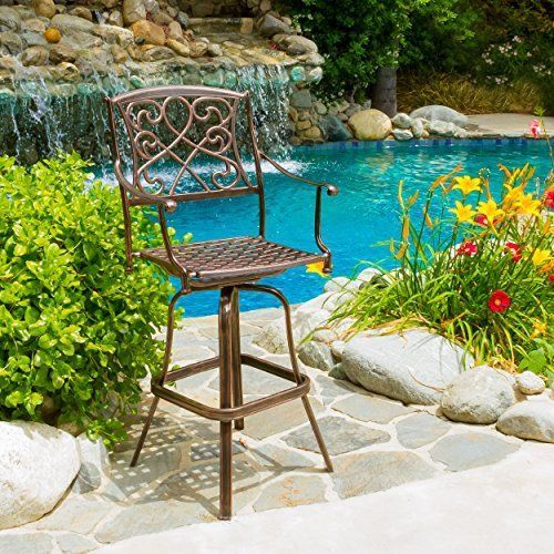 Paris Outdoor Cast Aluminum Bar Stool *** More info could be found at the image url.