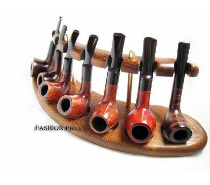 Amazon.com: New Wooden Pipes Stand-showcase, Rack Holder for 7 Tobacco Smoking Pipes . Handmade. The Best Price Offer In Fashion Pipes!: Hea...