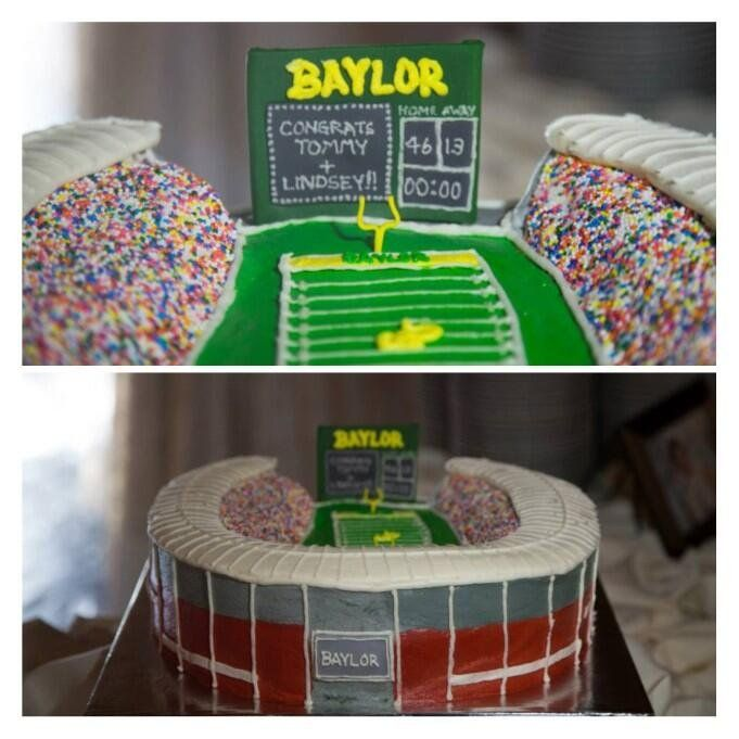 Another look at that impressive #Baylor Stadium grooms cake... (via lindsblanche on Twitter) #SicEm: In Bears, Stadium Grooms, Baylor Stadium, Grooms Cake, Groom Cake, Baylor Weddings, Awesome Things, Baylor Bears, Alex Cake