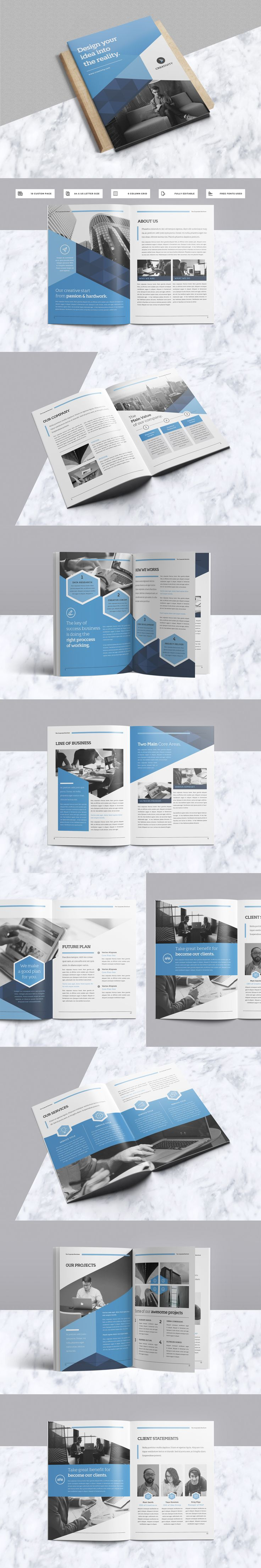 Modern & Professional Brochure 18 Pages Template InDesign INDD