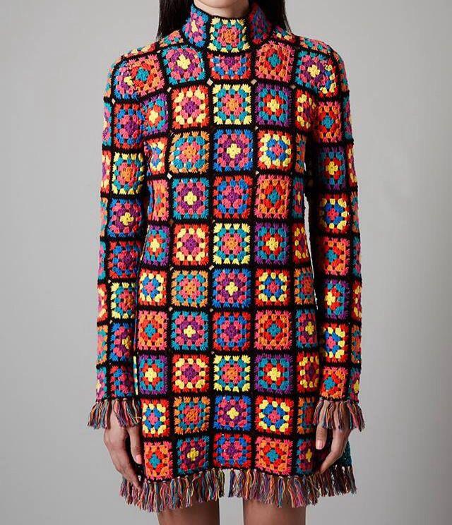 Love this granny square dress!