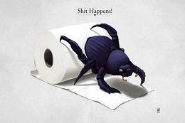 Shit Happens by rob-art at zippi.co.uk art | decor | wall art | inspiration | animals | home decor | idea | humor | gifts