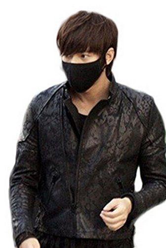 Bigood Einfarbig Erwachsene Mundschutz Maske Motiv Aktivkohle Schwarz