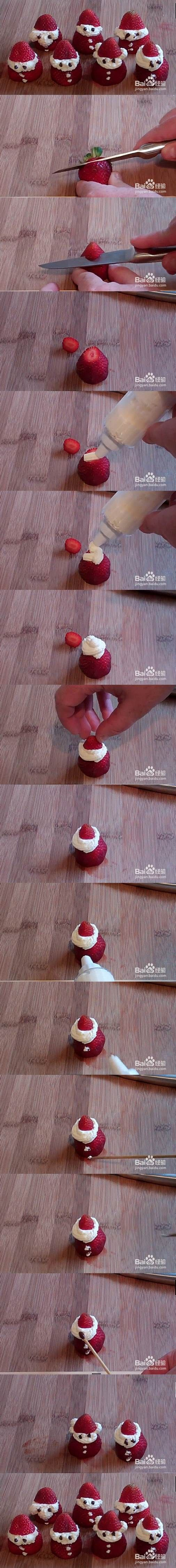 DIY Straberry Santa Claus 2