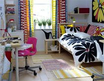 IKEA Dorm Room :: Yeah, I'm probably going to buy at least half my stuff from IKEA. And Target.