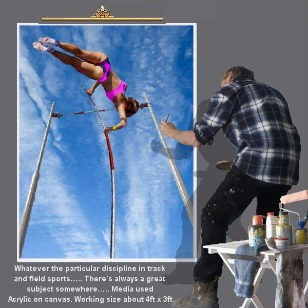 From Pole Vault to discus or long jump…. With acclaimed artist Mal Hazeldean... https://www.youtube.com/watch?v=76zz2ISakDQ geatvideo@yahoo.com.au