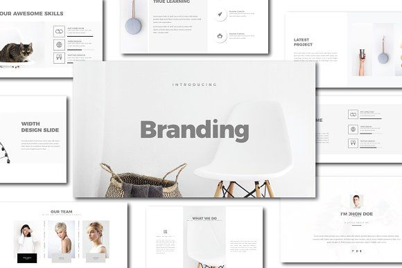 branding minimal keynote templatedirtytemp studio on, Presentation templates