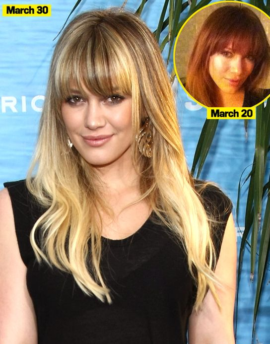 Hilary Duff Sports Bright Highlights -- Is She Better Blonde? Vote!