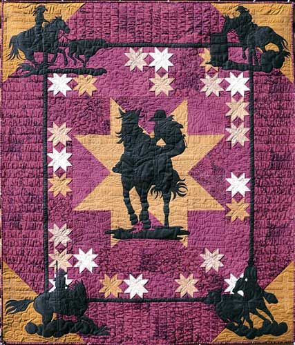 Rodeo gals quilt pattern by june jaeger log cabin for Log cabin portici e ponti
