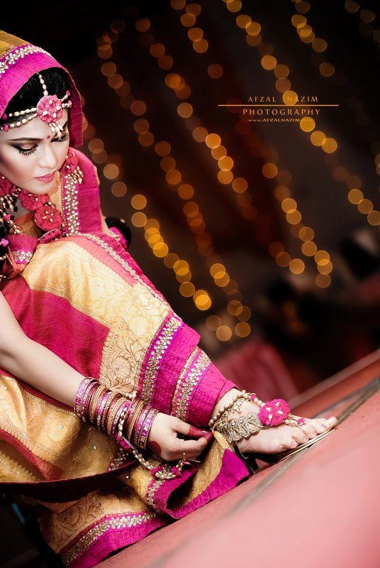 holud - love the color #pink and #yellow #bridal