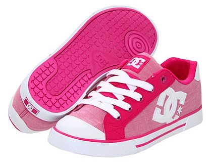 I really want a pair of these pink shoes!  DC Shoes & Apparel: up to 65% off + FREE Shipping! ~ at TheFrugalGirls.com #shoes