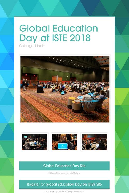 Global Education Day at ISTE 2018