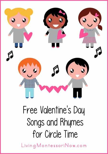 Lots of free Valentine's Days songs and rhymes found on YouTube and in posts with lyrics (and often actions) included. Songs for preschool-elementary age.