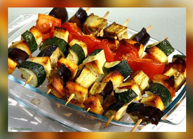 Вегетарианские рецепты: ВЕГЕТАРИАНСКИЙ ШАШЛЫК  Из овощей и адыгейского сыр...