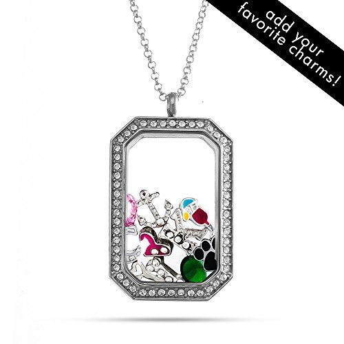 CZ Dog Tag Build A Charm Floating Locket *** You can find out more details at the link of the image.