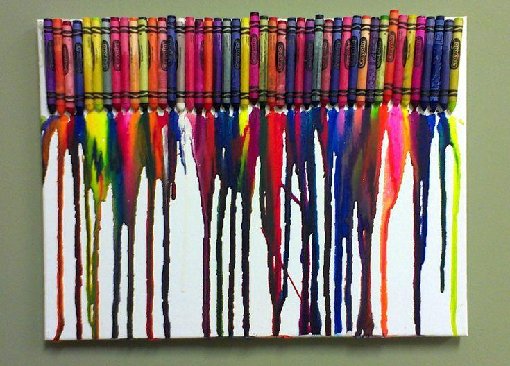 DIY Crayon Canvas Artwork